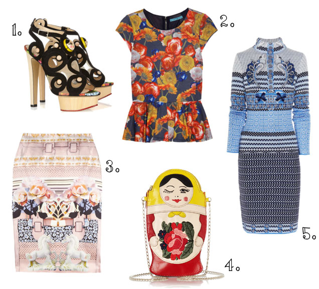 Alice and Olivia, Charlotte Olympia, Emilee anne, Emileeanne, Fashion, Mary Katrantzou, Matryoshka, Nesting Dolls, Russian Dolls,