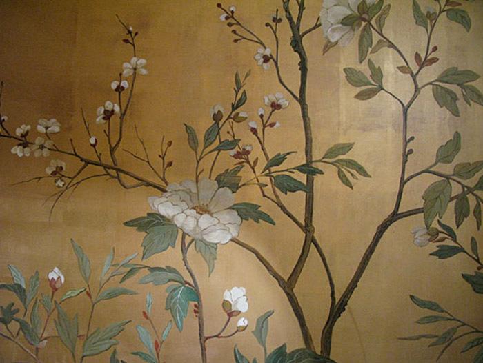 técnicas antiguas pintura mural interior baño diseño