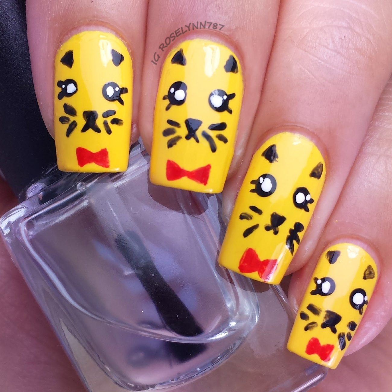 Freehand Nail Art Challenge: Animal - Manicured & Marvelous
