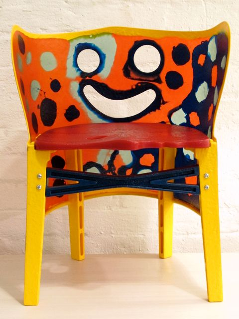 paint a chair like gaetano pesce did