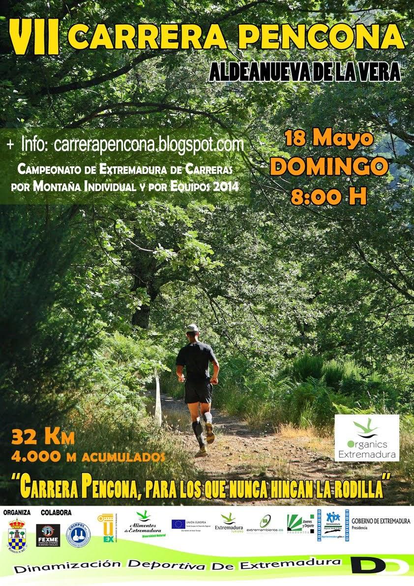 VII CARRERA PENCONA   18 de MAYO  8:00 de la mañana