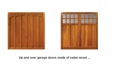Timber up and over garage doors from manufacturer Fort Doors