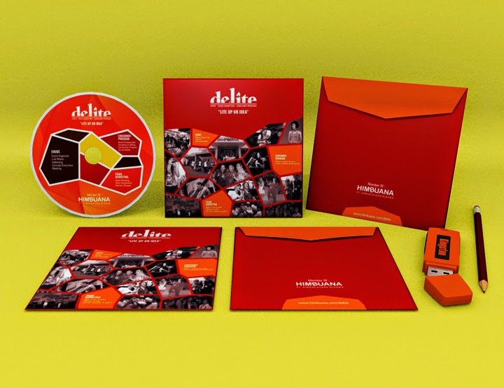 Desain CD cover Delite