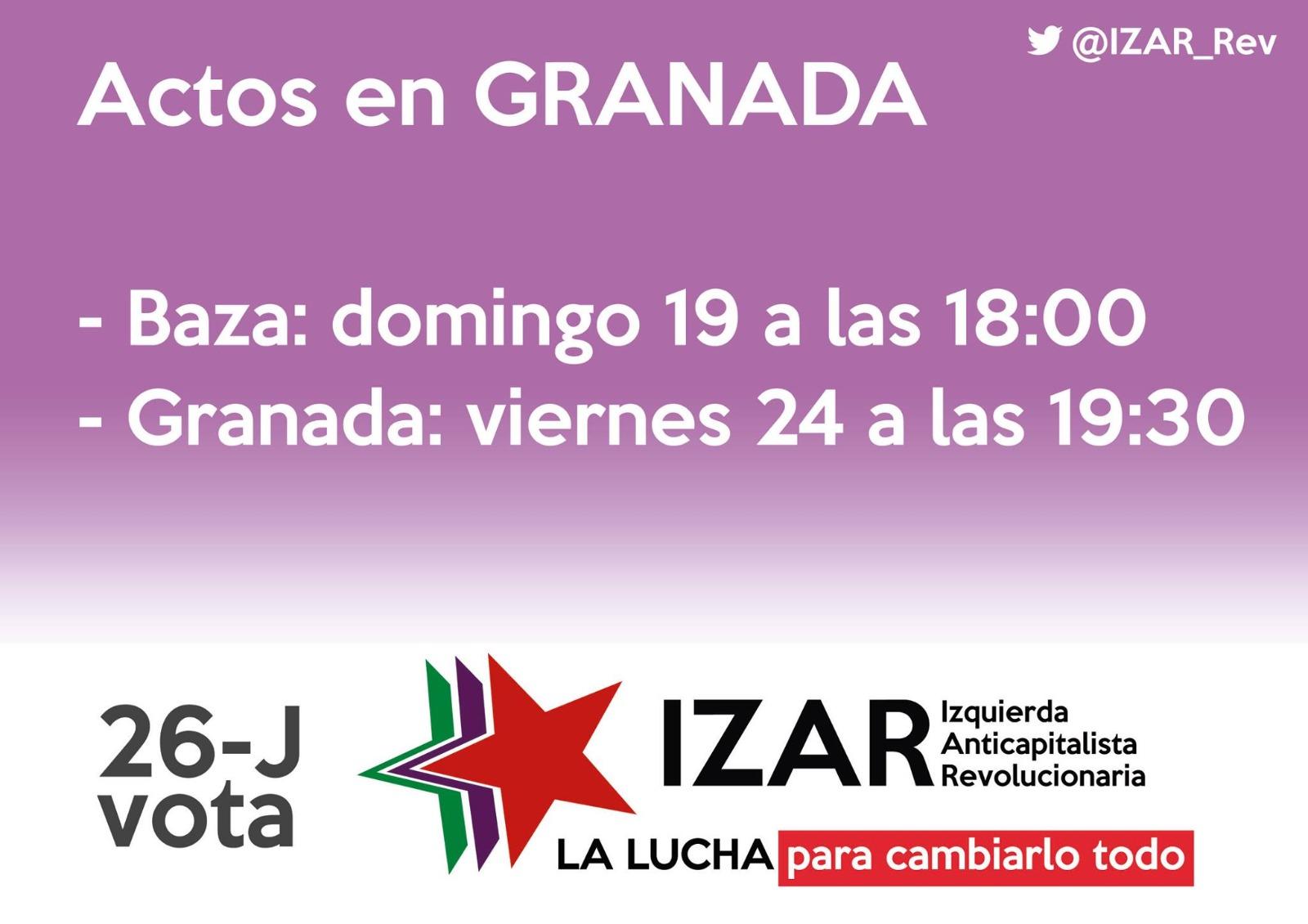 Actos de campaña de la candidatura de IZAR en la provincia de Granada