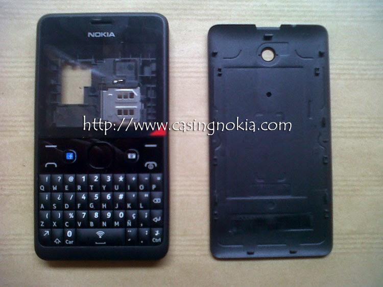 Casing Nokia Asha 210 Hitam