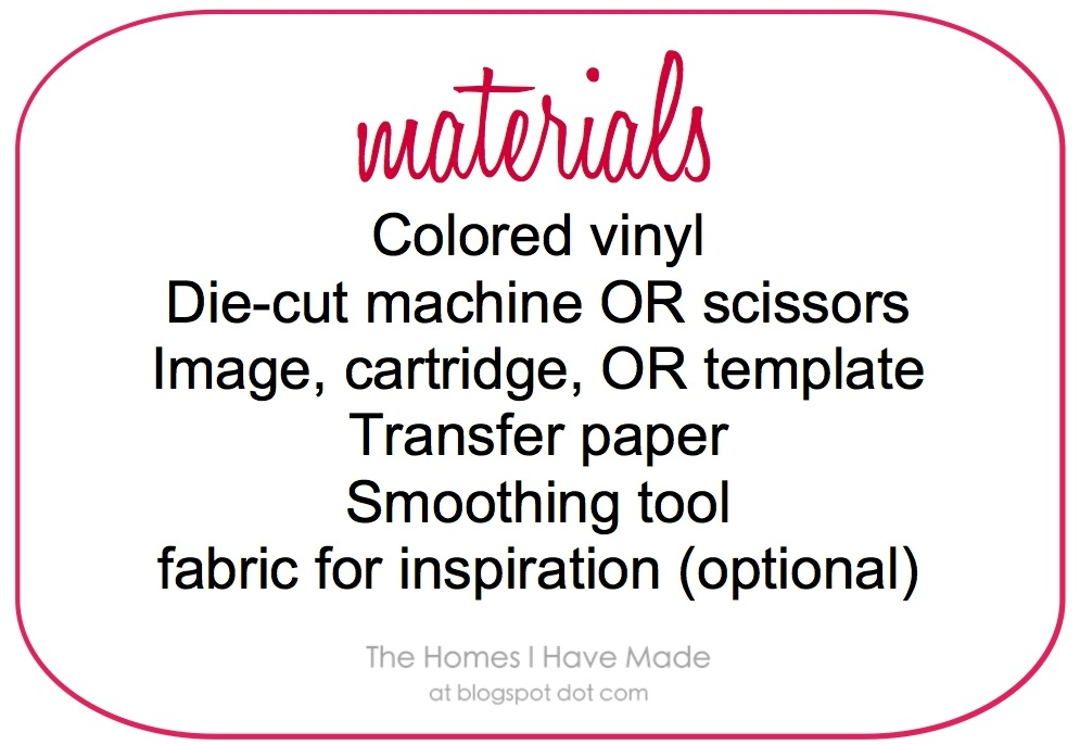 Custom Vinyl Decals The Homes I Have Made - Make your own decals machine