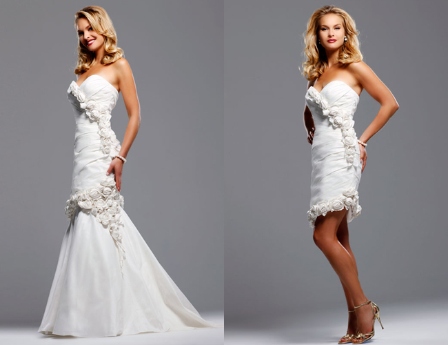 elegant 2 in 1 wedding dresses for an autumn wedding