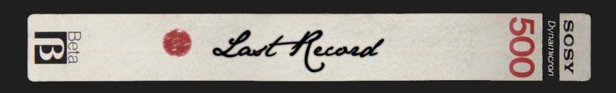 Selamat Datang di Last Record!