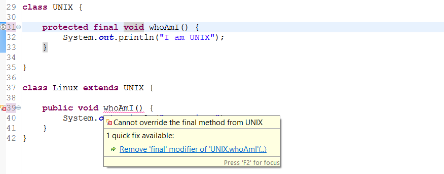 overriding and overloading in java example