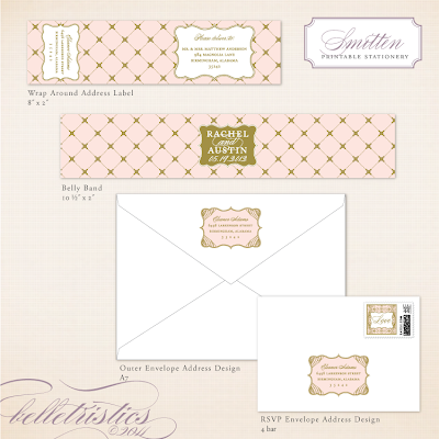 elegant glamorous pink gold printable diy wedding invitation design