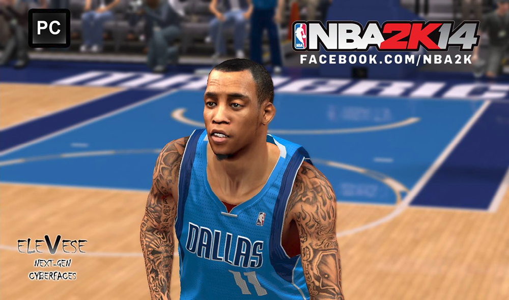 NBA 2K14 Monta Ellis Cyberface Patch
