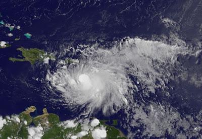 EMILY immer weiter nach rechts - Kuba anscheinend ausser Gefahr - möglicherweise kein US-Impakt, Zugbahn, Hispaniola, Haiti, Dominikanische Republik, Bahamas, USA,  Karibik, Emily, Atlantik, Vorhersage Forecast Prognose, Puerto Rico, Sturmwarnung