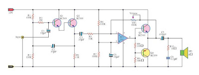 High Impedance amplifier circuits