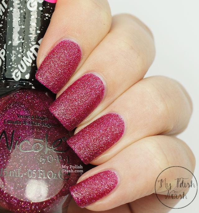 pink textured nail polish