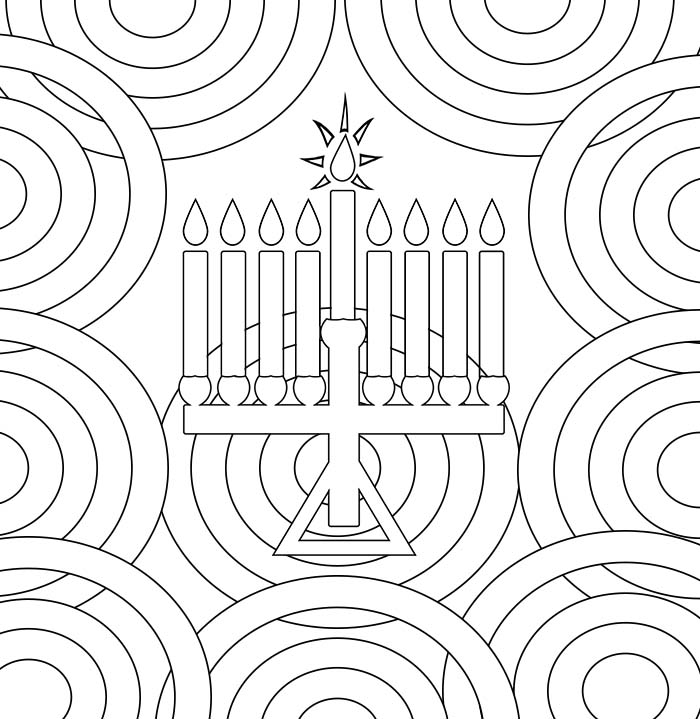 Smile Will Save The Day Hanukkah Coloring Pages