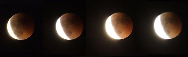 Fotografías del último eclipse lunar