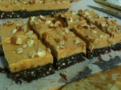 Pecan Peanut Butter Slice - Dairy Free, Gluten Free, Grain Free