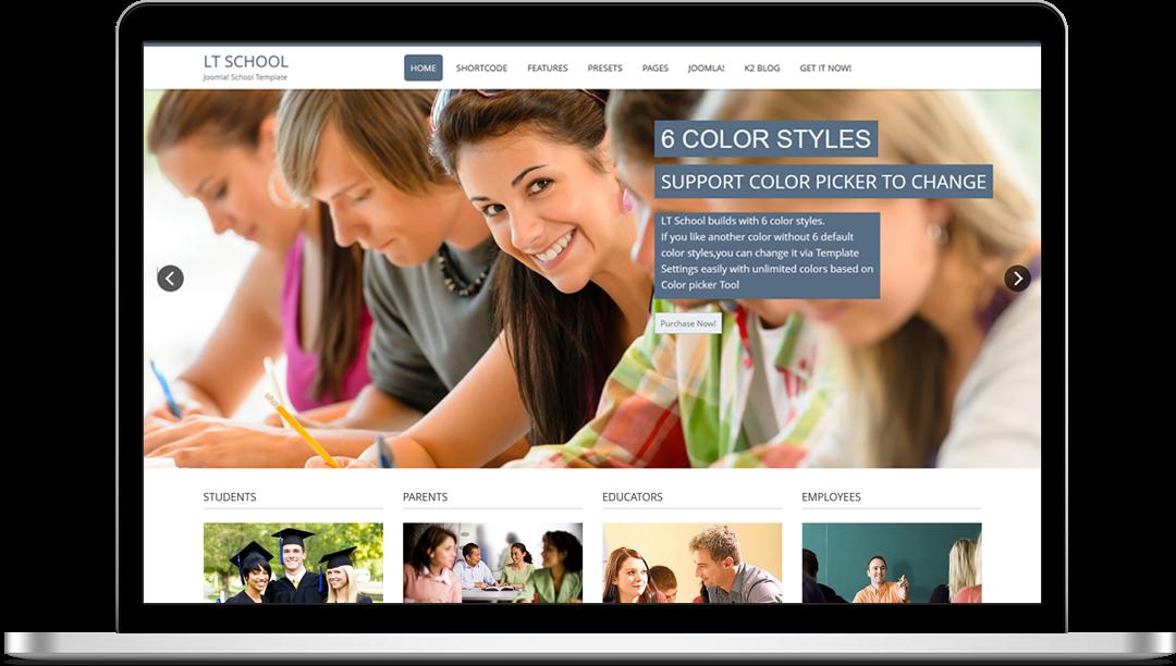 LT School Onepage - Free Joomla! Template