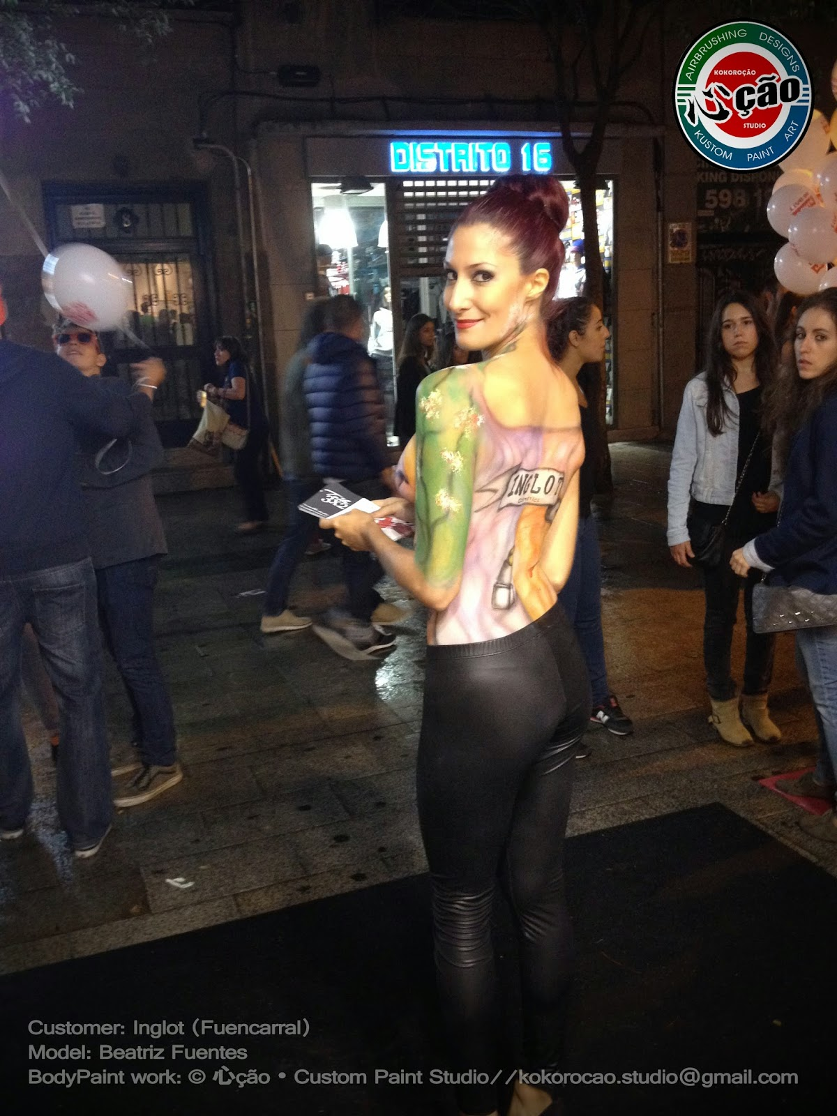 BODY PAINT PARA INGLOT COSMETIC (EVENTO: VOGUE FASHION NIGHT OUT)