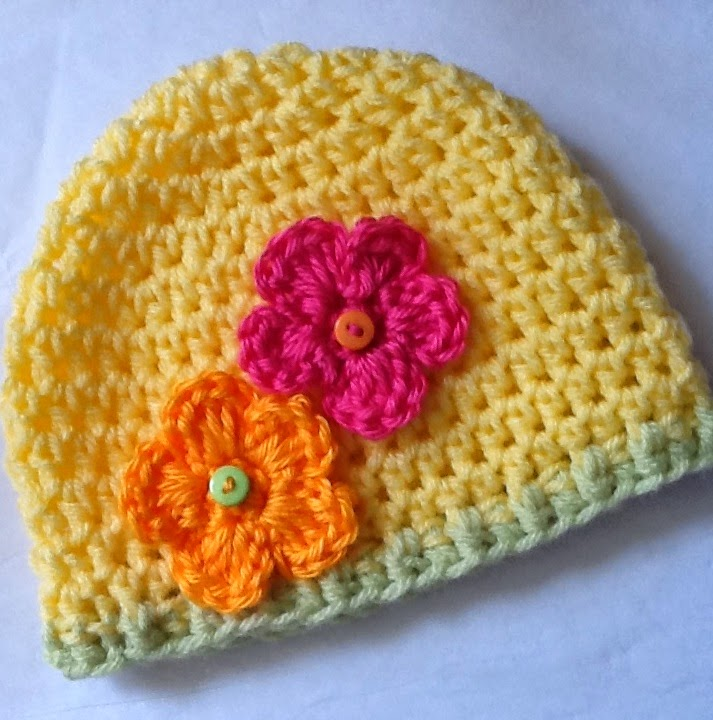 Crochet Hat Patterns Flowers : Lakeview Cottage Kids: FREE Crochet Hat Pattern!!!