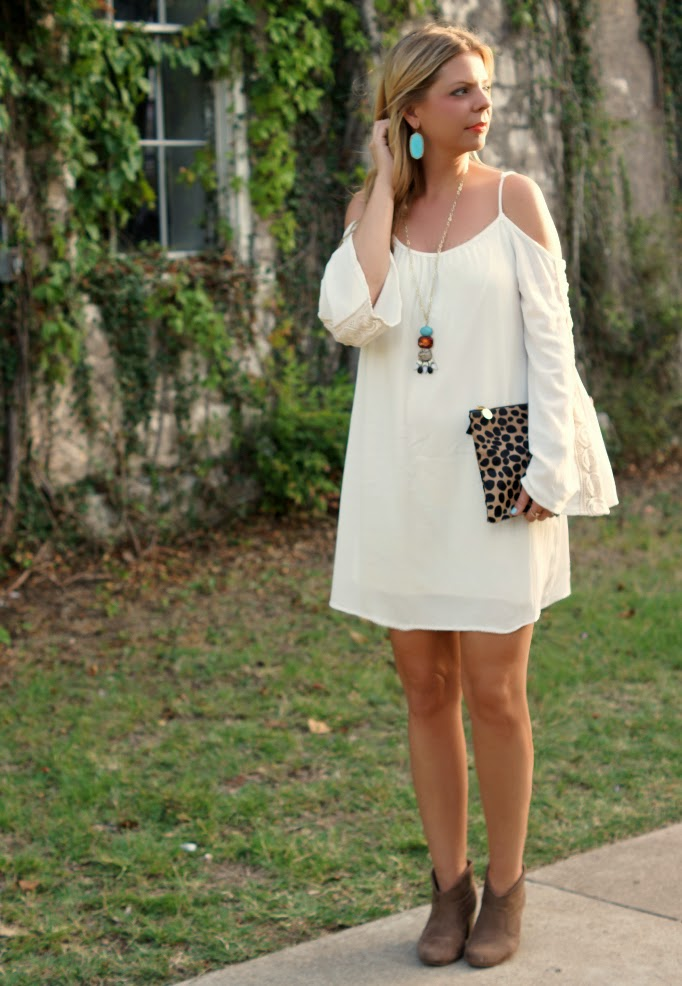Boheiman Off the shoulder white dress