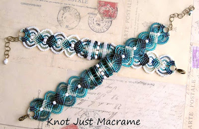 Micro macrame bracelets with color shading by Knot Just Macrame.