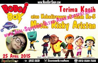 Thanks Card Boboiboy Sample Tema Design Thanks Card (Kartu Ucapan Terima Kasih)