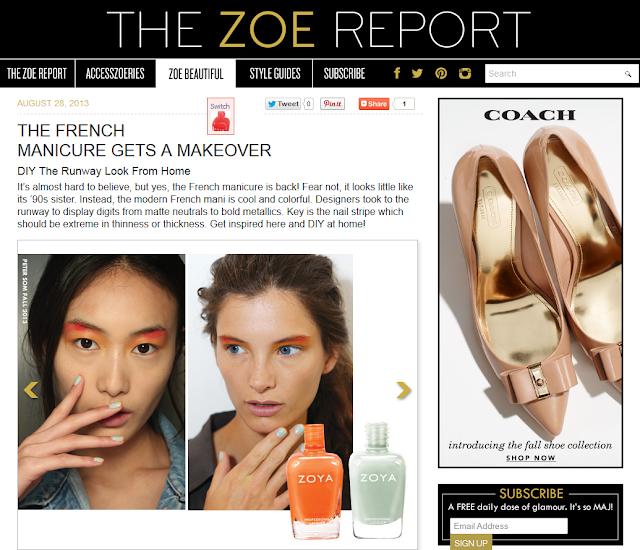 Zoya nail polish blog the new french manicure with zoya The zoe report