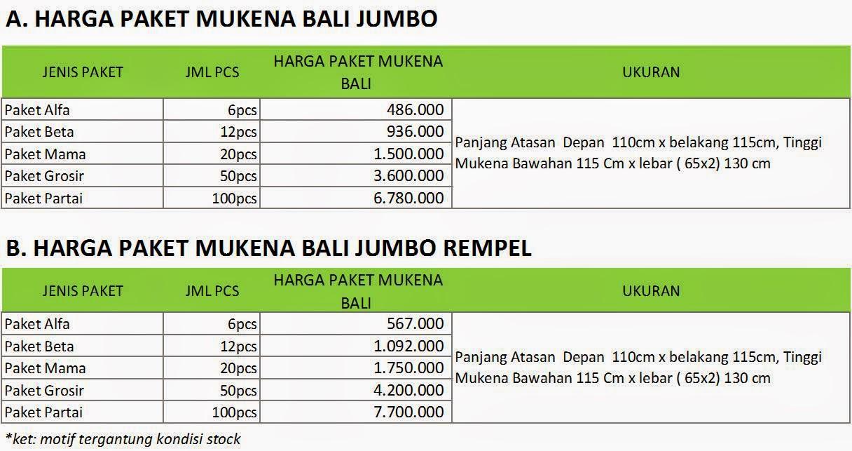 Paket Mukena Bali