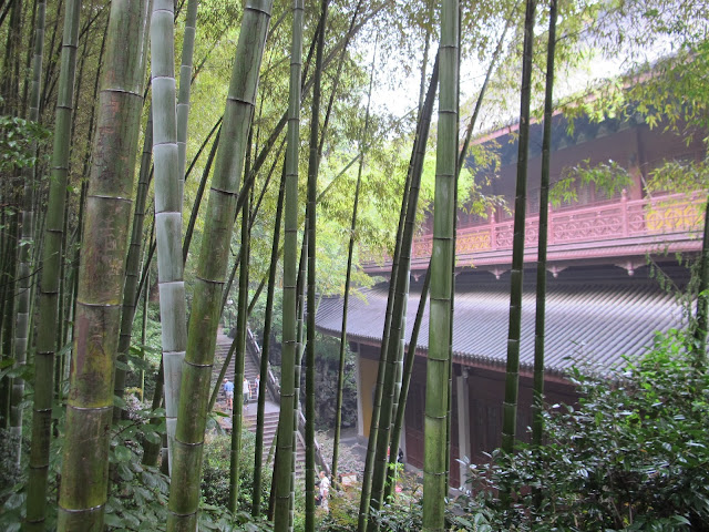 A temple hall at Lingyin, Hangzhou, China