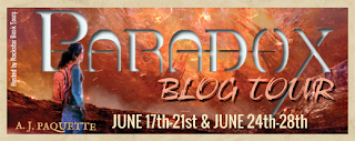 AJ Paquette's Paradox Blog tour with giveaway!