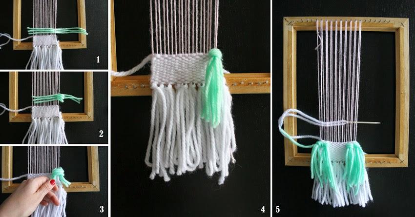 tejiendo en un telar diy8