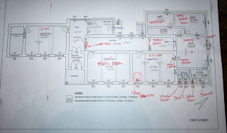 My scribblings for the ground floor