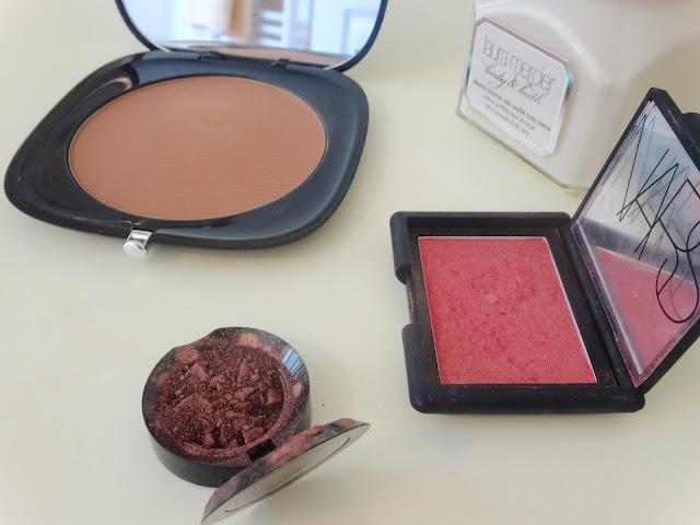 Marc Jacobs Tantric O! Bronzer, Nars Orgasm blush, Ardency Inn Rose Gold eyeshadow