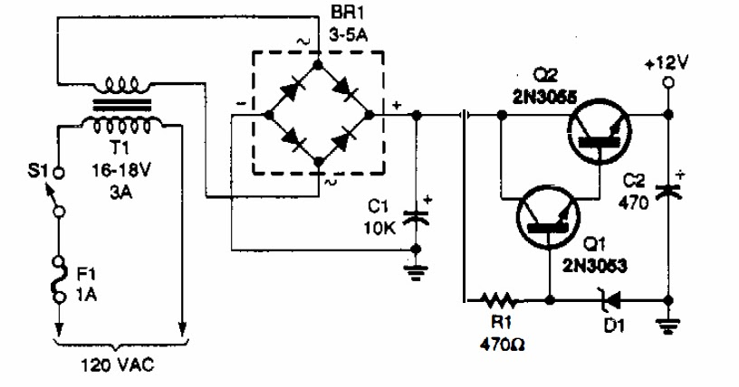 12v power supply circuit electronic repairing Regulated Power Supply Circuit Simple Power Supply Schematic