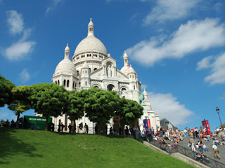 De Sacre Coeur in Montmartre