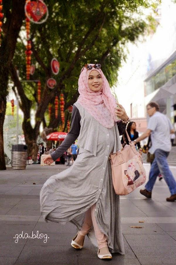 model baju hamil kerja muslim