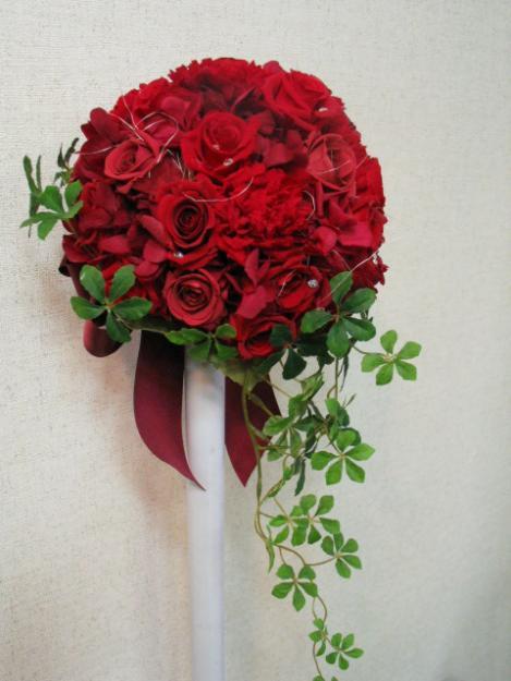 Flores con Bonitos Mensajes de Cumpleaños ツ Imagenes  - Fotos De Ramos De Flores Rojas