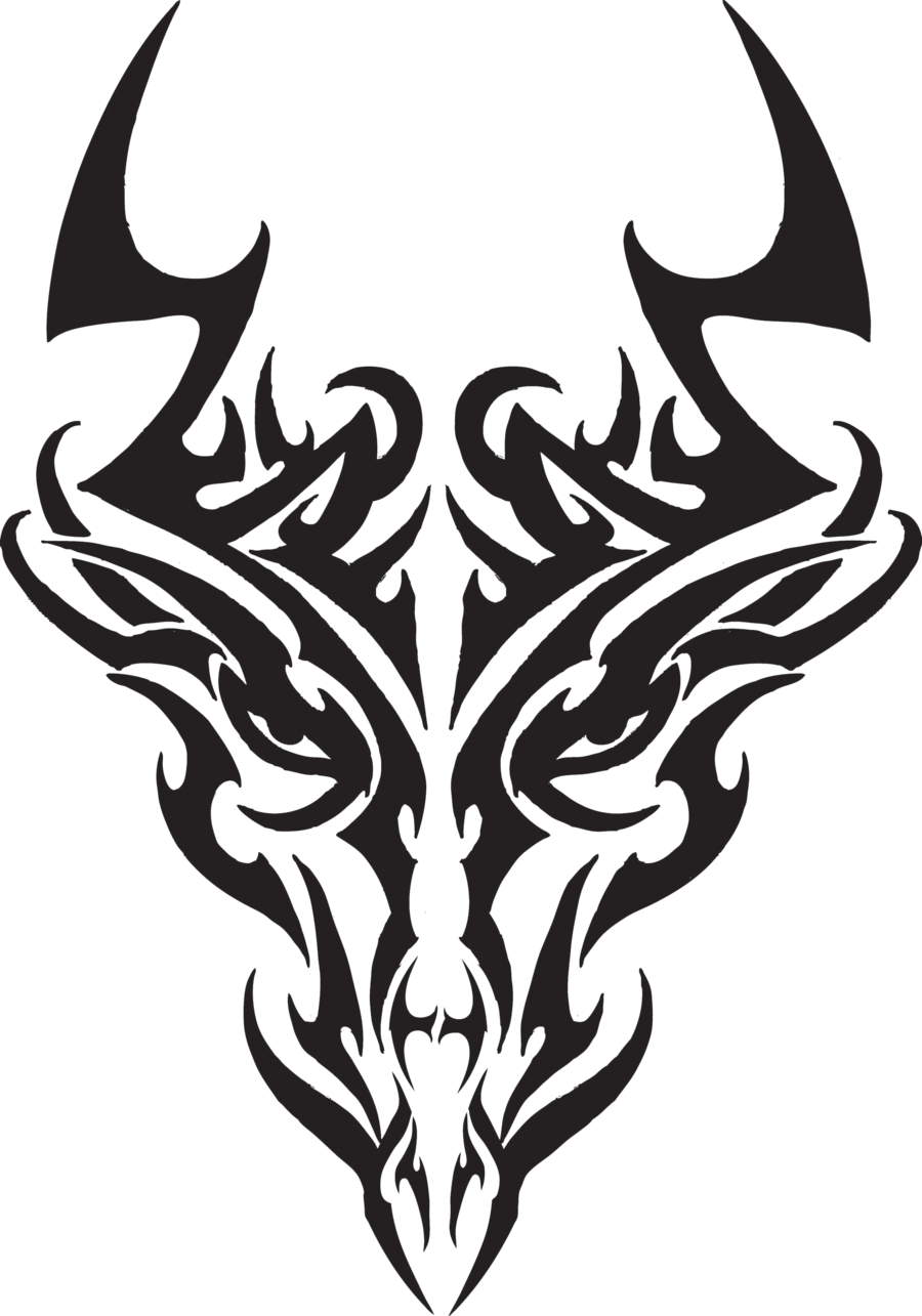 Tribal Dragon Head Tattoos For MenTribal Dragon Head Designs