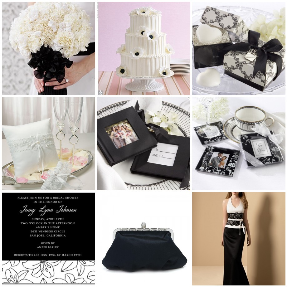 Wedding themes wedding style a black and white wedding for All white wedding theme pictures