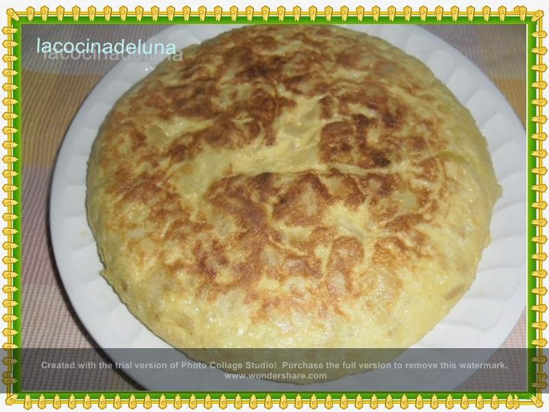 La cocina de luna tortilla de patatas con calabacin y cebolla - Tortilla de calabacin y cebolla ...