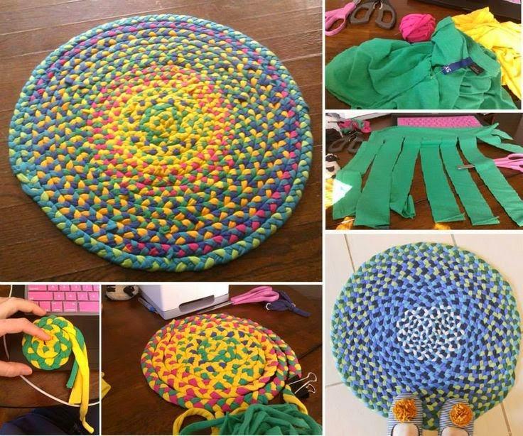 Tappeti fai da te - Come fare tappeti riciclando vecchie ...
