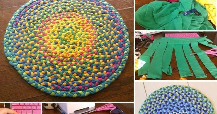 Tappeti Fai Da Te Stoffa : Tappeti fai da te come fare tappeti riciclando vecchie magliette