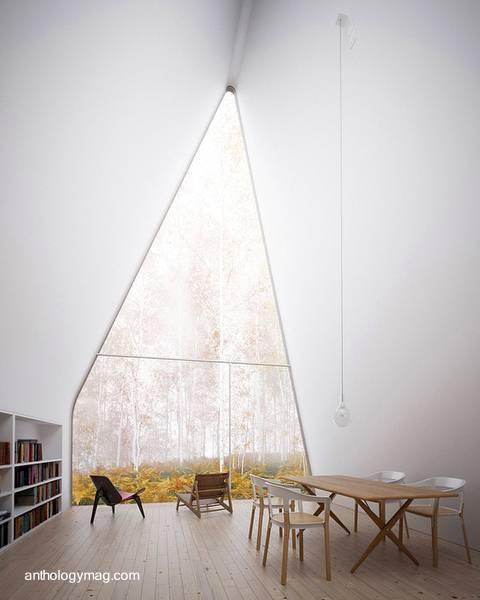 Arquitectura de Casas: Casas cabañas alpinas de madera y metal.