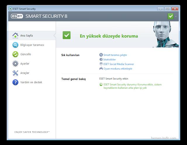 Eset Nod32 Antivirus 8 Türkçe Katılımsız Full İndir