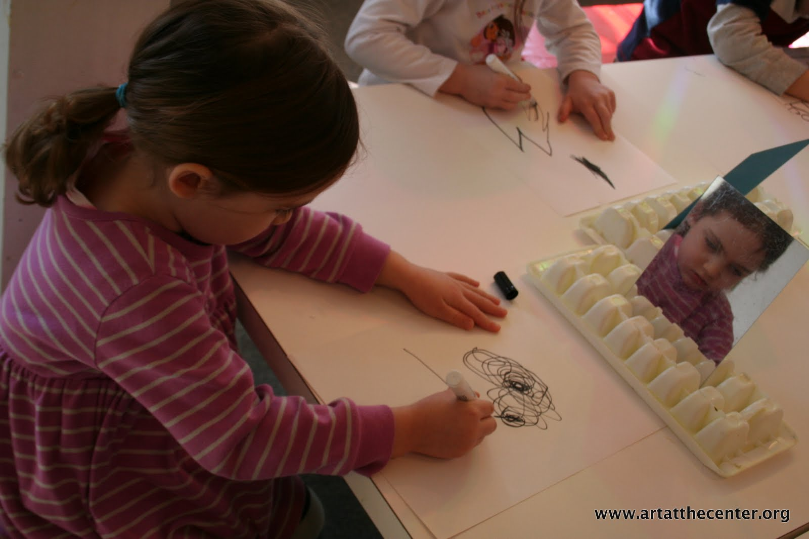 making art with children self portrait how to build yourself on paper