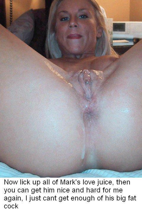 Clean cock cum hubby lick wife