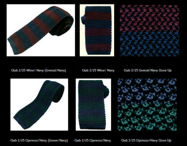Nick Bronson Stripe Knitted Ties - 100% Silk - Made In Italy