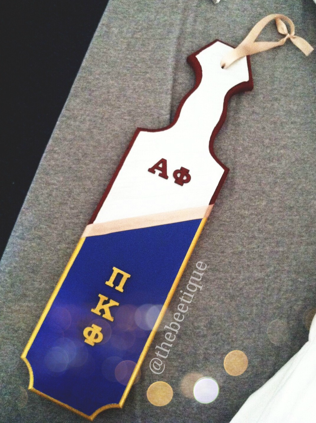 the beetique sorority fraternity paddle