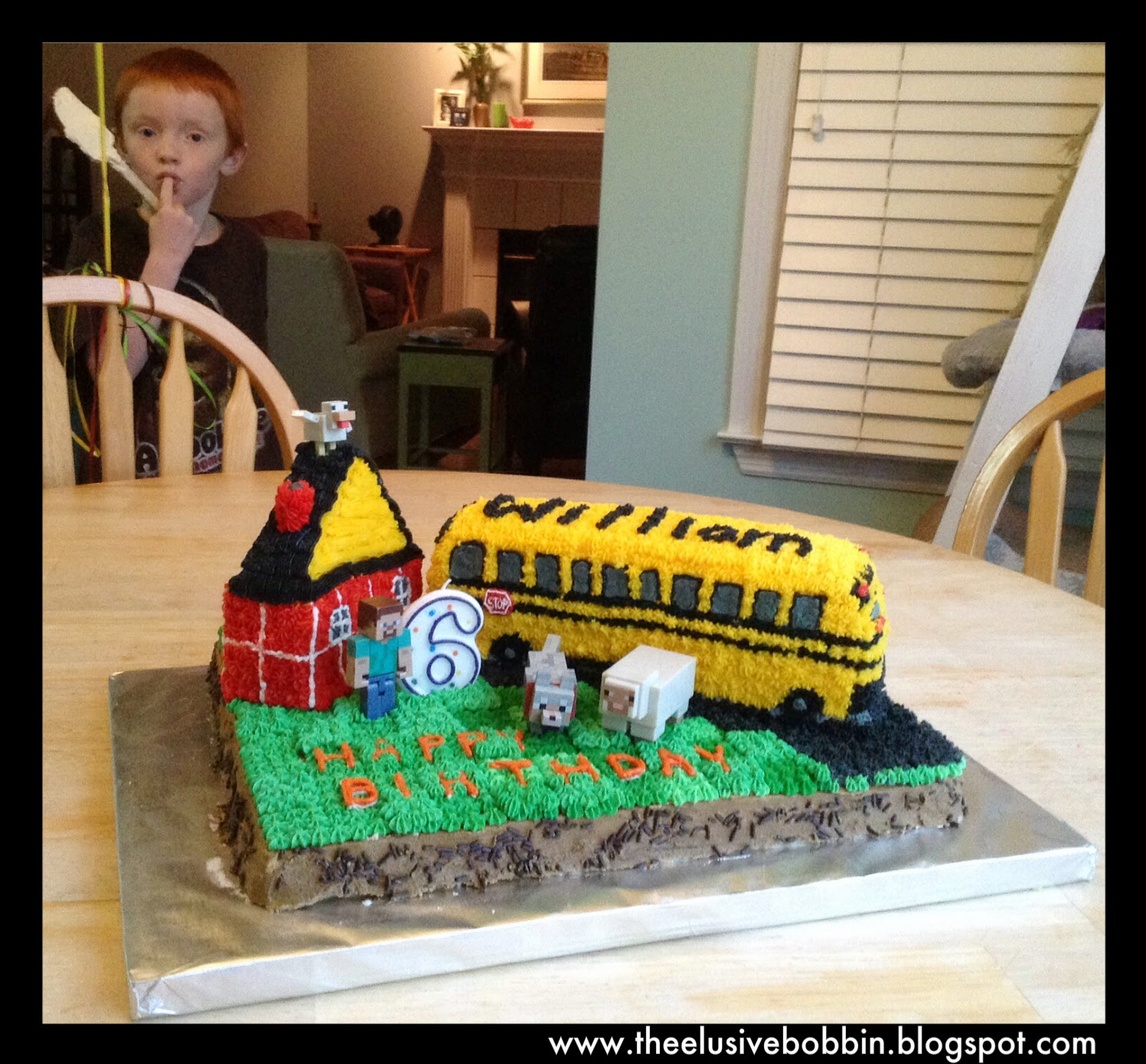 The Elusive Bobbin Fff Minecraft Bus Birthday Cake
